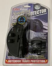 CYBER POWER NOTEBOOK SURGE PROTECTOR--PORT PROTECTION--TRAVEL---NEW