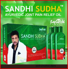 ORIGINAL SANDHI SUDHA PLUS SAPTARISHI 100% HERBAL3 BOTTLES JOINT PAIN RELIEF OIL