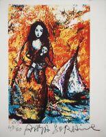 Raya SORKINE : L'enfant de Bretagne - Lithographie signée et numérotée