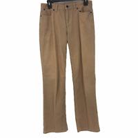 Talbots Womens Tan Mid Rise Heritage Corduroy Straight Leg Pants Size 4