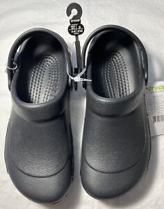 New Women's CROCS Black Shoes Clogs Size 10 FREE SHIPPING