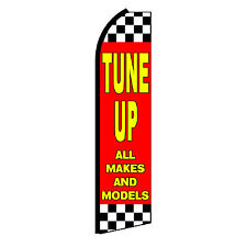 Tune Up Advertising Flutter Feather Sign Swooper Banner Flag Only