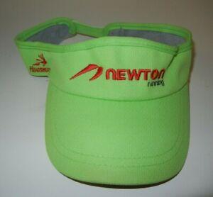 Headsweats NEWTON RUNNING Green TRIATHLON VISOR Tri Race Gym Hat Summer Sun Cap
