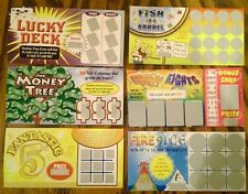 6 FAKE ALL WINNING PHONY SCRATCH OFF PRANK LOTTERY TICKETS - GAG GIFT - JOKE