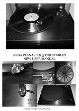 Rega Planar 2 & 3 nouveau manuel de l'utilisateur