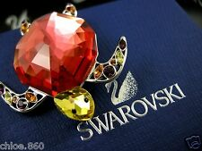 SWAROVSKI SIGNED CRYSTAL TURTLE  PIN ~ BROOCH RETIRED NEW IN BOX