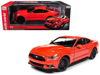 Autoworld 1:18 2016 Ford Mustang GT 5.0 with Black Wheels Diecast Orange AW242