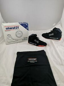 Stand 21 Porsche Racing Boots Black Size 5.5 UK FIA 8856-2000 Homologated New.