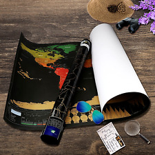 """Wall Decor Travel Accessories World Map US Map Poster Canada Countries Flags 32"""""""