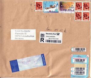Israel Großbrief Registered Mail 2016