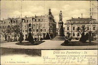 Frankenberg 1904 Siegesdenkmal Park Humboldtstrasse Postamt  n/ Leipzig Gohlis