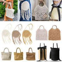 Women Woven Rattan Straw Bag Handbag Beach Tote Purse Storage Shoulder Bag