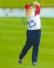 BRITTANY LINCICOME signed LPGA 8x10 SOLHEIM CUP photo with COA A