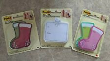 Lot Of Post It Gift Tag Notes Christmas Stockings Snowflakes Pink Green Red New