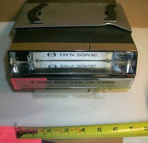 Vintage car DYN Sonic 8 track player DS-800 Japan  solid state 12 volt