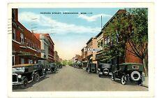 Greenwood MS - EARLY AUTOS ON HOWARD STREET - Postcard