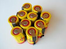 10 Tenergy SC 20300 NiCd Sub C 2200 mAh Batteries with factory installed Tabs