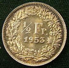 1953  Svizzera Switzerland  1/2  Franc  1953