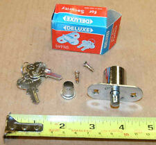 Deluxe wood cabinet drawer push lock with 2 keys - new - made in Hong Kong