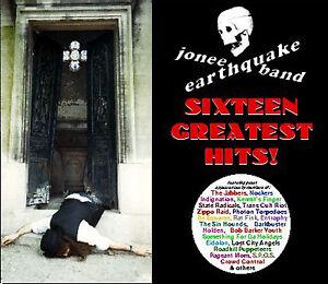 16 GREATEST HITS by Jonee Earthquake Band CD Boston Punk Surf Rockabilly