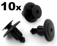 10x 8mm Plastic Rivet Panel Clips for Subaru Bumper, Engine Undertray, Sideskirt