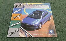 1999 PEUGEOT 106 206 306 406 806 306 CABRIOLET UK MAILER MAIL OUT BROCHURE