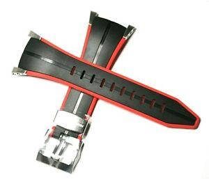 SEIKO F1 HONDA BLACK & RED 22MM RUBBER WATCH STRAP 4KZ5JZ FOR SNA749P1 SPC009P1