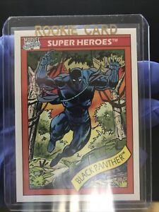 1990 Marvel Universe SERIES 1 BLACK PANTHER ROOKIE CARD PSA Ready Mint plus.
