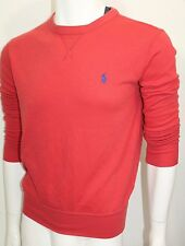 Polo Ralph Lauren Men's Terry Crew-Neck Pullover Sweater Orange Sz Small NWT