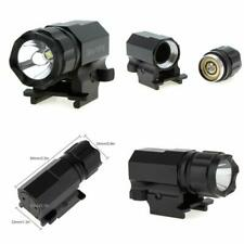 Cree LED Compact Tactical Strobe Flashlight Weaver Mount 600LM Hunting Outdoor