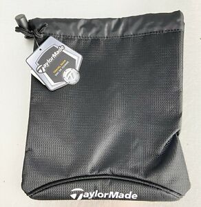 """TaylorMade Golf Players Valuables Pouch Travel Gear Black 7.5"""" x 9"""" NEW"""