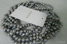 "CHICO's  100"" Total length Silver tone Fresh Water Pearl String  Necklace"