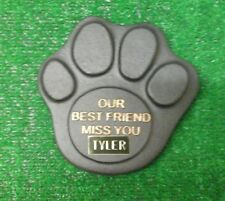 Dog Large Pet Memorial/headstone/stone/memorial paw with plaque new style 1