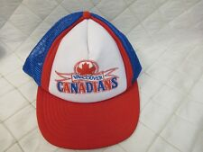 ffb6892c25a Vintage Snapback Trucker Hat Vancouver Canadians Baseball Hat Red White Blue