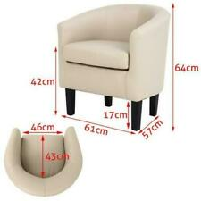 Modern Tub Chair Sofa Armchair Padded Seat Living Room Reception Bedroom Chairs