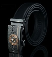 Fashion Mens Leather Rachet Belt Waistband Strap Automatic Buckle Solid Mercedes