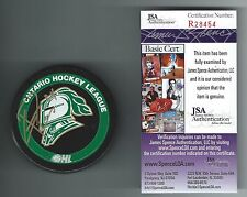 Corey Perry Signed London Knights Puck JSA Authenticated Anaheim Ducks