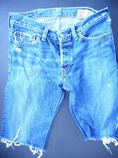 Hollister 32W 30L Ladies blue denim shorts, distressed