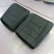 03 07 Ford 250 LARIAT Driver- Passe.. Bottom perforated Leather Seat cover BLACK