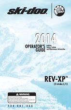Ski-Doo owners manual book 2014 REV-XP (2-stroke L/C) MX Z Sport & Summit Sport