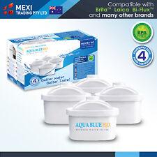 4 x MEXTRA Filter Cartridge  by Aqua Blue H20 Replaces Brita Maxtra