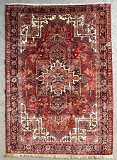 ANTIQUE HERIZ RUG, HAND MADE PERSIAN WOOL CARPET CLEANED (9FT X 6FT) CIRCA 1920