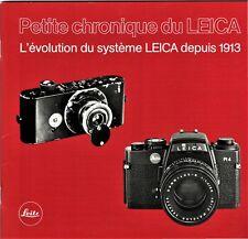 LEITZ _ Petite chronique du LEICA _ évolution du matériel depuis 1913