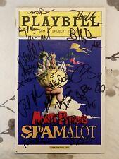 Monty Python's Spamalot Cast Signed Broadway Playbill March 2008