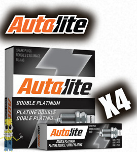 Autolite APP64 Double Platinum Spark Plug - Set of 4