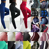 Women's Ruched Push Up Leggings Yoga Pants Anti Cellulite High Waist Compression