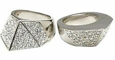 CC Skye Bonnie & Clyde Pave Silver Plated Ring