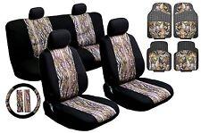 17pc Mesh Camo Camoflage Car Truck Seat Cover Set HD Rubber Floor Mats HS6