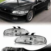 For 92-95 Honda Civic VX 3DR Euro 1PC Chrome Housing Headlight Corner Reflector