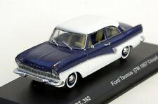 """Ford Taunus 17M P2 Lim. 2-türig """"Barocktaunus"""" Bj. 1957-1960, M. 1:43, blau/weiß"""